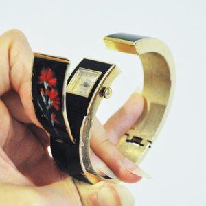VTG Hidden Secret SWISS Watch Handpainted Bracelet